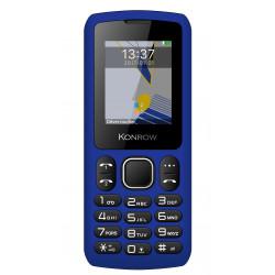 Konrow Chipo 3 - Téléphone Classique - Ecran 1.8'' - Photo - Bluetooth - Double Sim - Bleu