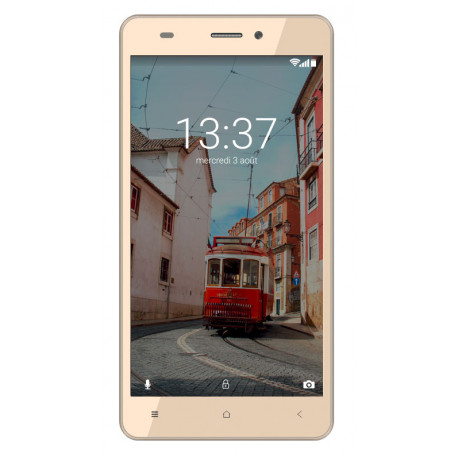 Konrow Link 55 - Smartphone 4G LTE - Android 6.0 Marshmallow - Ecran 5.5'' - 8Go - Double Som - Or