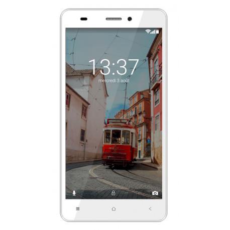 Konrow Link 55 - Smartphone 4G LTE - Android 6.0 Marshmallow - Ecran 5.5'' - 8Go - Double Som - Blanc