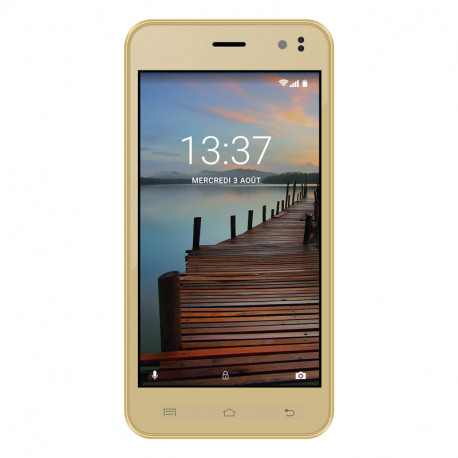 Konrow Coolsense - Smartphone Android 6 Marshmallow - Ecran 4.5'' - 8Go - Double Sim - Or