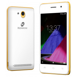 Konrow Start - Smartphone Android 6.0 - Ecran de 4'' - 8Go - Double Sim - Or