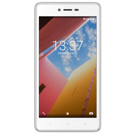 Konrow Just 5 - Smartphone Android 7.0 Nougat - Ecran IPS 5'' - 8Go - Double Sim - Blanc