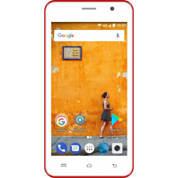 Konrow Easy Touch - Smartphone 4G - Android 7.0 - Ecran 4.5'' - Double Sim - 8Go, 1Go RAM - Rouge