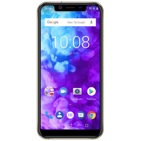 Konrow Must - Smartphone Android - 4G - Écran 5.85'' - Double Sim - 64Go, 4Go RAM - Or