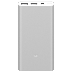 Xiaomi Mi Power Bank 2S - 10000mAh - 2 Ports USB - Argent