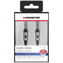 Câble Audio Monster Jack 3.5 mm Mâle / Mâle - 1.2 m - Noir