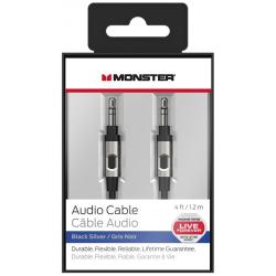 Câble Audio Monster Jack 3.5 mm Mâle / Mâle - 1.2 m - Noir