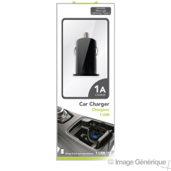 Adaptateur Allume Cigare USB Universel - 1A - Noir - Blister