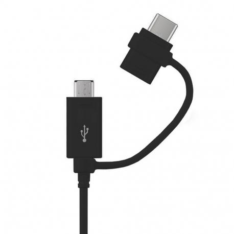 Samsung EP-DG950DBE - Câble Data combo Micro USB & Type C - 1.2m - Recharge rapide - Noir (Compatible Android, En Vrac)
