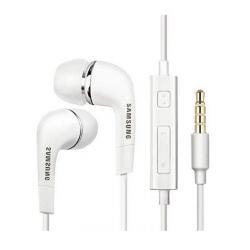 Samsung EHS64AVFWE - Écouteur Intra Auriculaire d'Origine - Prise Jack 3.5 - Blanc (En Vrac)