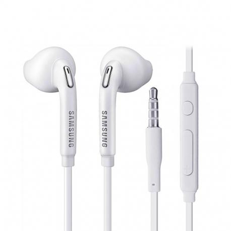 Samsung EO-EG920BW - Écouteur Intra Auriculaire d'Origine - Prise Jack 3.5 - Blanc (En Vrac)