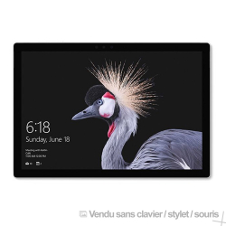 Microsoft Surface Pro - Core i5 - 12.3'' - Wifi - 128Go, 8Go RAM - Windows 10 PRO - Gris (Vendu Sans Clavier)