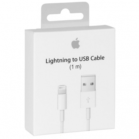 Apple MD818 Câble Lightning Original - 1m - Blanc (Blister)