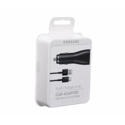 Samsung EP-LN915CBEGWW - Chargeur Voiture Complet - Adaptateur Fast Charge 15W & Câble USB Type-C - Noir (Emballage Originale)