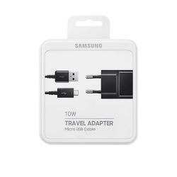 Samsung EP-TA12EBEUGWW - Chargeur Secteur Complet - Adaptateur 2A & Câble Micro USB - Noir (Emballage Originale)