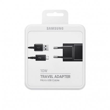 Samsung EP-TA12EBEUGWW - Chargeur Secteur Complet, Adaptateur 2A & Câble Micro USB - Noir (Emballage Originale)