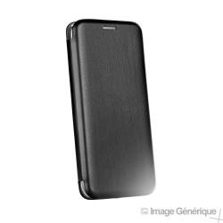 Étui à Rabat Similicuir pour Samsung Galaxy J4 Plus - Noir (En Vrac)