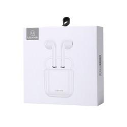 USAMS LU01 - Écouteurs Stereo sans fil (Bluetooth 5.0) - Blanc