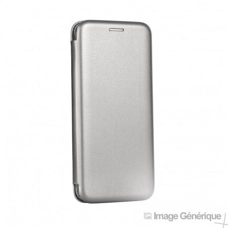 Étui à Rabat Similicuir pour Huawei P30 Lite - Gris (En Vrac)