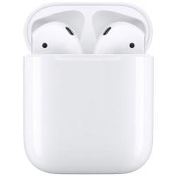 Écouteurs Sans Fil Apple AirPods 2 (Bluetooth) - Boitier de Charge Sans Fil - Blanc