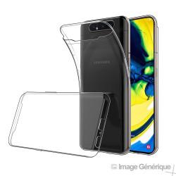 Coque Silicone Transparente pour Samsung Galaxy A80