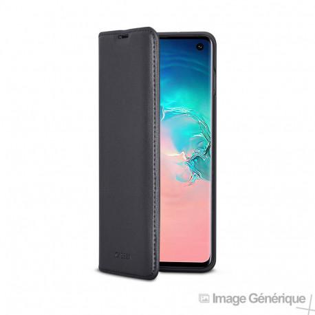 Étui à Rabat Similicuir pour Samsung Galaxy S10 - Noir (En Vrac)