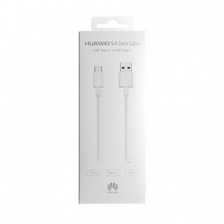 Huawei AP-71 - Câble USB Type-C - 1m, 5A - Blanc (Emballage Originale)