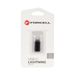 Adaptateur USB Type-C Vers Lightning - Noir (Blister)