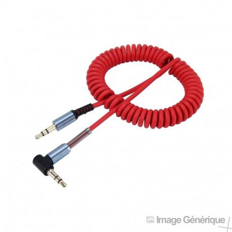 Câble Audio Auxiliaire 3.5mm Mâle vers Mâle - Rouge