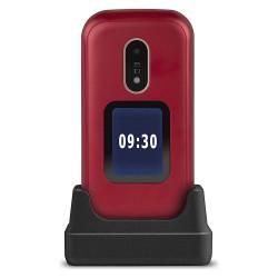 Doro 6060 (Double Sim, Clapet, 2.8'') Rouge