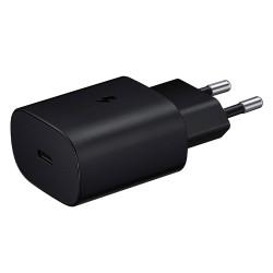 Samsung EP-TA800EB - Adaptateur Secteur USB Type C (25W, Fast Charge, Noir) - Original, En Vrac