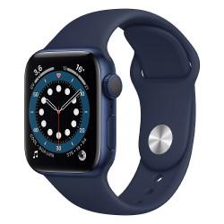 Apple Watch Serie 6 (40mm, Sport Band GPS) Bracelet Bleu