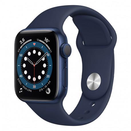 Apple Watch Serie 6 Blue (40mm, Sport Band GPS) Bracelet Bleu