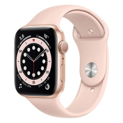 Apple Watch Serie 6 (44mm, Sport Band GPS) Bracelet Rose