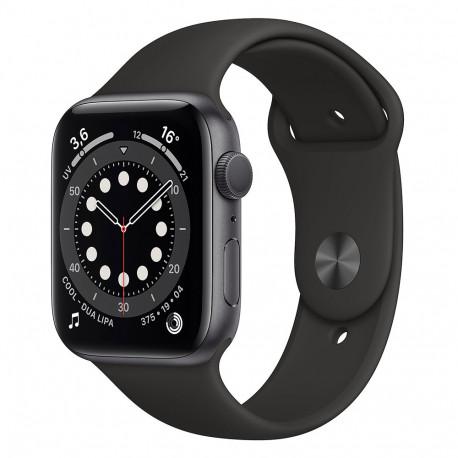Apple Watch Serie 6 (44mm, Sport Band GPS) Bracelet Noir