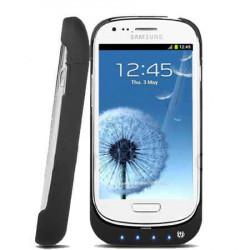 Coque Batterie 2500mAh Blanche Pour Samsung I8190 Galaxy SIII Mini