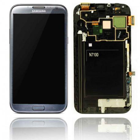 Ecran LCD Original Pour Samsung N7105 Galaxy Note 2 4G Gris