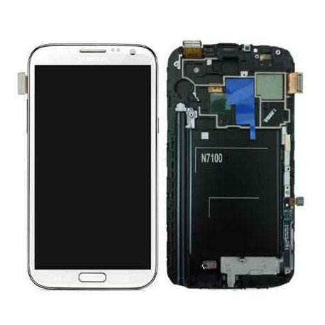 Ecran LCD Original Pour Samsung N7105 Galaxy Note 2 4G Blanc