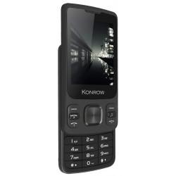 10€ REMBOURSÉS** sur Konrow Slider - Téléphone Coulissant - Ecran 2.4'' - Double Sim - Noir