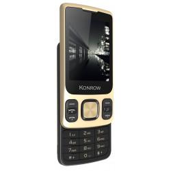 10€ REMBOURSÉS** sur Konrow Slider - Téléphone Coulissant - Ecran 2.4'' - Double Sim - Or